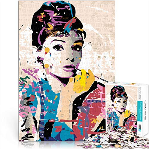 Juguetes de rompecabezas para adultos y niños Audrey Hepburn Dating artifact Mini 1000Pcs Paper Puzzle