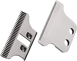 Professional Trimmer T-Wide Adjustable Replacement Clipper Blades Set#2215–#1062-60,Designed for Specific Wahl Clippers,5 Star Series and Sterling Trimmers,Includes Screws and Instructions