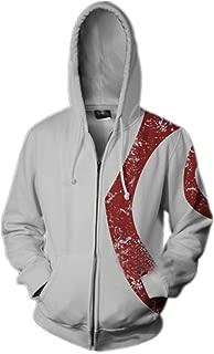Unisex Printed Kratos Jacket Adult Zipper Hoodie Halloween Cosplay Costume