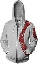 Mesodyn Unisex Printed Kratos Jacket Adult Zipper Hoodie Halloween Cosplay Costume