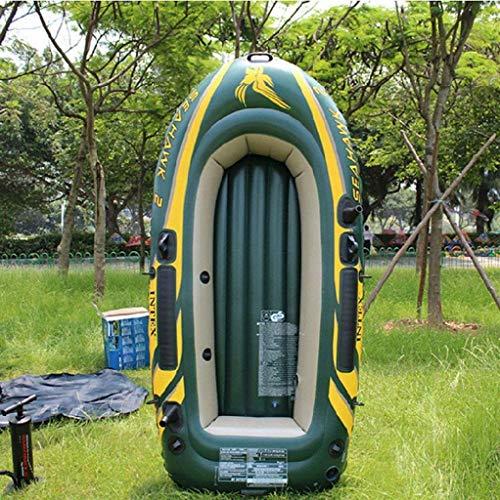 Zwembad, 2 persoons opblaasbare boot om aluminium peddel en handmatige hoge output luchtpomp 236x114x41CM te sturen voor zee Hubo opblaasbare boot drijvende kajak