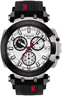 mens T-Race Chrono Quartz Stainless Steel Casual Watch Black T1154172701100