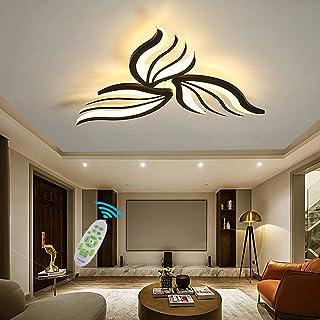 LED Dimmable Plafonnier Salon Lustres Avec Télécommande Moderne Chambre Forme de Fleur Luminaire de Plafond Pour Salle à M...