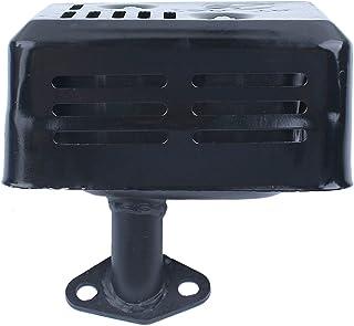 Haishine Silenciador de Escape con silenciador y Protector térmico para Honda GX120 GX160 GX200 5.5 HP 6.5 HP 168F Motor Motor Generador Bomba de Agua