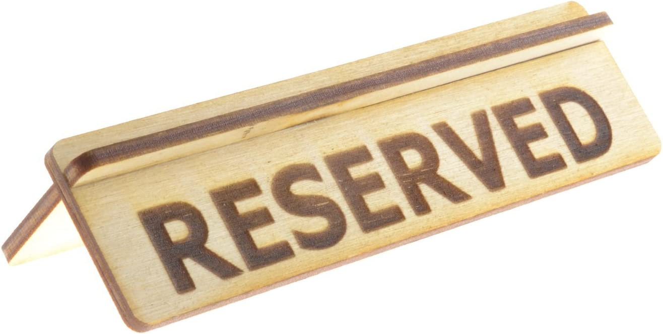 ORIGIN - Small Dealing full price reduction Size Reserved Made Table trust for Restaurants Sign