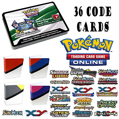 Pokemon 36 Assorted Online Code Cards from XY EX, Sun and Moon GX, and...
