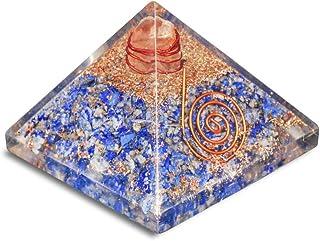 PREK Lapis Lazuli Orgone Gemstone PyramidFor & EMF Protection Size: 1.5 Inch