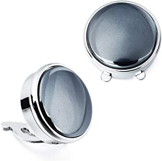 Stone Button Covers Cufflinks for Men Shirt - Best Gifts for Men