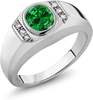 Best green sapphire mens ring Reviews