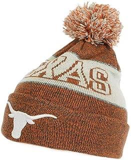 Elite Fan Shop Texas Longhorns Winter Pom-pom Beanie Hat