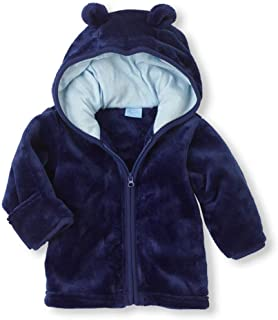 9eb04b903 Noubeau Infant Baby Boys Girls Fleece Ears Hat with Lined Hooded Zipper Up Jacket  Coat Tops