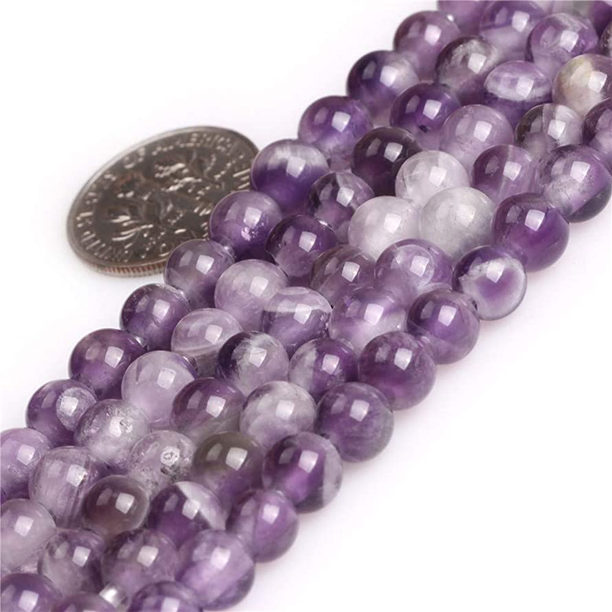 JOE FOREMAN 6mm Dream Lace Amethyst Gemstone Round Beads for Jewelry Making 15