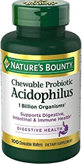 Nature's Bounty Acidophilus Chewable Wafers, Natural Strawberry - 100 wafers