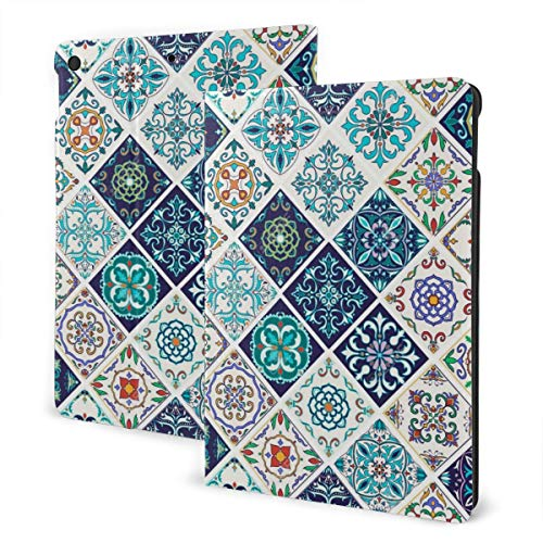 Flower Texture Beautiful Patchwork For Design Case For Ipad 7th Generation 10.2 Inch Case Tpu Protective Stand Cover With Auto Sleep/Wake For Ipad 10.2'' Tablet