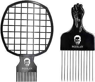 Magic Hair Coils Tool, Afro Pick Twist Hair Curl Sponge Brush, Twist Afro Natural Hair Comb (Black)