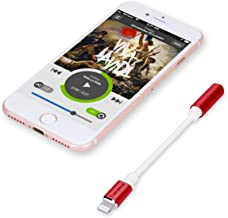 Tranesca Audio 3.5mm Jack Headphone Adapter Compatible with iPhone 7/7s/iPhone 8/8s/iPhone X/XS/XR - (Red)