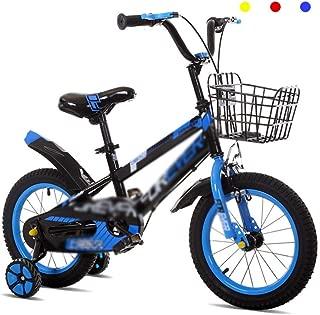 "Kids Bike Boy Road Cycling Girl Learning Bicycle Balance Wheel 12"" 14"" Damping Mountain Bike (Color : Blue, Size : 12inches)"