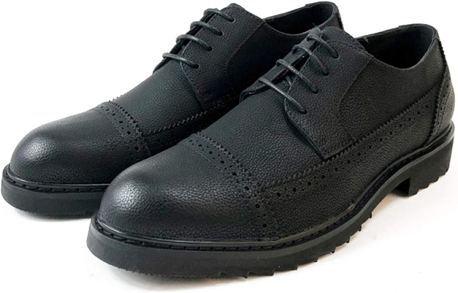 Men's lace up Bullock carved shoes fashion derby shoes business casual formal dress shoes