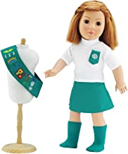 Emily Rose Doll Outfit Similar to Junior Girl Scout with Socks | 18 Inch Dolls Clothes Fits American Girl | Gift-Boxed!