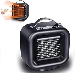 ZZYYZZ Calefactor de Aire Caliente Portatil, Ventilador de calefacción de cerámica de 650W / 1000W con termostato y protección contra vuelcos, para el hogar, la Oficina, el Dormitorio
