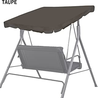 "Strong Camel New Patio Outdoor Swing Canopy Replacement Porch Top Cover for Seat Furniture (77""x43"", Taupe)"