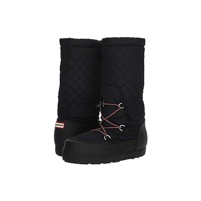 Hunter Original Quilted Snow Boots (Black) Women