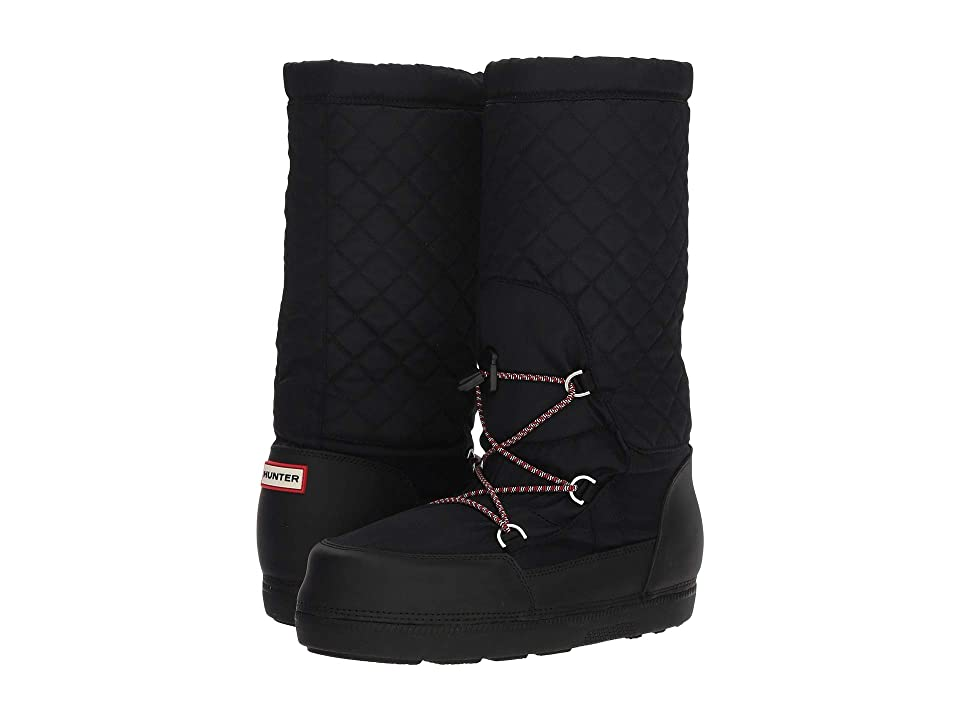 Hunter Original Quilted Snow Boots (Black) Women