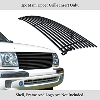 APS Compatible with 1998-2000 Toyota Tacoma 97 Tacoma 2WD Stainless Black Billet Grille Insert 8x6 Wide N19-J36458T