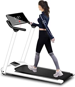 TUXM Folding Treadmills for Home Use, Electric Variable Speed Walking/Jogging Exercise Machine for Small Space, Indoor Exercise Workout Office Physical Training