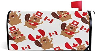 henfar Beaver of Canada with Flag Mailbox Covers Magnetic Post Box Cover Wrapped Oversize 25.5