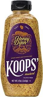 Koops' Honey Dijon Mustard, 12 oz. Bottle, 4-Pack