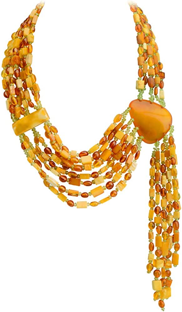 Jewelry to Your Doorstep Gorgeous Polish Designer Baltic Amber Runway Statement Necklace 17