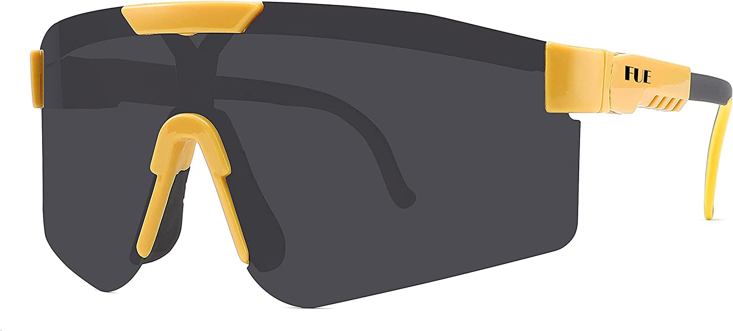 FUE New Sports Polarized Windproof Protective Sunglasses Glasses Fees free!! Translated