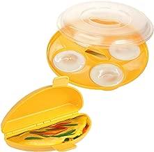 Happy Sales HSME2 Microwave Egg Set: 4 Egg Poacher and Omelette Maker