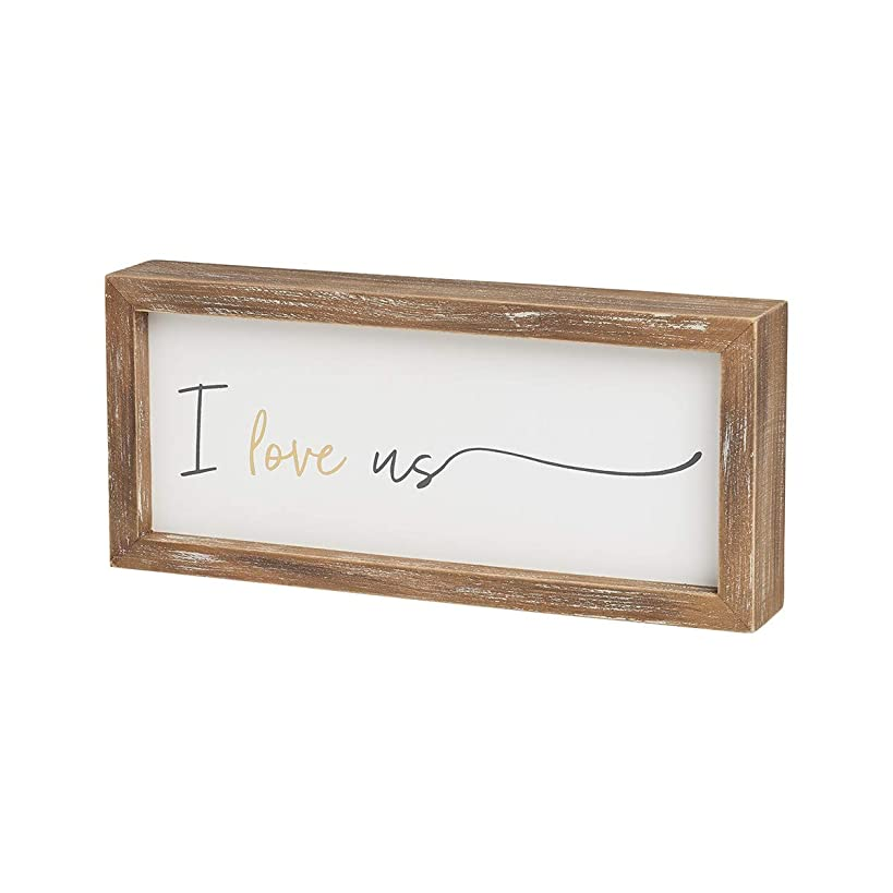Collins Painting 'I Love Us' Wood-Framed Block Sign, 9