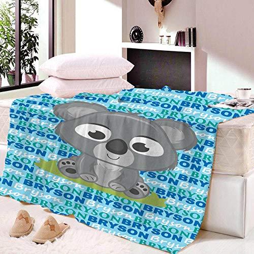 xczxc Manta de Franela Sherpa Koala de Dibujos Animados Manta Polar para Sofá Cama, 100% Microfibra Extra Suave Transpirable Mantas Cálida Acogedor 180x200cm