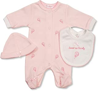 Tiny Baby Girls 5-8 lbs Premature Knitted Cardigan Pink Giraffe V Neck Button Up 918