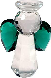 Crystal Guardian Angel Green - Handmade Crystal Glass Religious Motive Gift for All Occasions - Make Joy with a Beautiful Shining Product …