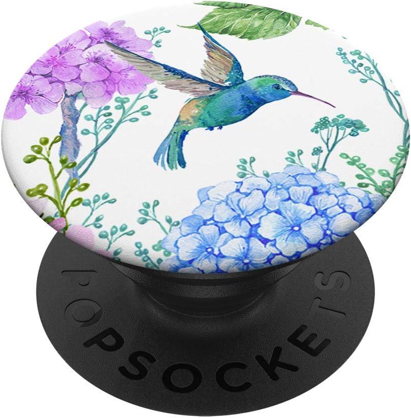 Blue Hummingbird Popular overseas Flowers Floral Swa Watercolor Design PopSockets Ranking TOP18