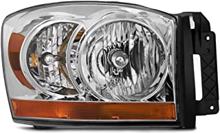 Epic Lighting OE Style Replacement Headlight Assembly for 2006 Dodge R1500 Mega Cab R2500 R3500 Pickup [ CH2519114 55077794AB ] Right Passenger Side RH
