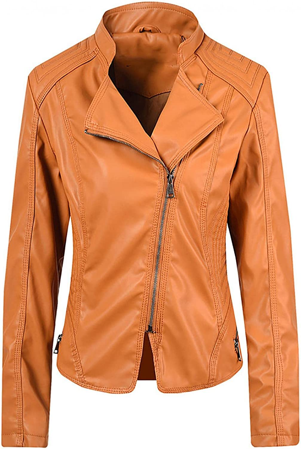 Women's Cool Stylish Jackets Casual Zipper Sleeve Slim Beauty We OFFer at cheap prices products Faux Long