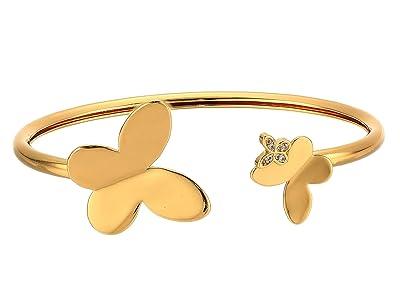 Kate Spade New York In A Flutter Flex Cuff Bracelet (Clear/Gold) Bracelet