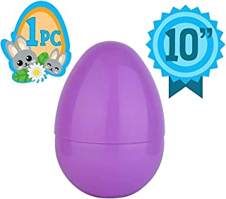 Totem World Jumbo 10-Inch Solid Pink Easter Egg - The Perfect Size For Holding Toys, Candy Bars, And Stuffed Animals - Easy To Open, Tough To Break - Great As Party Favors And Easter Basket Stuffers