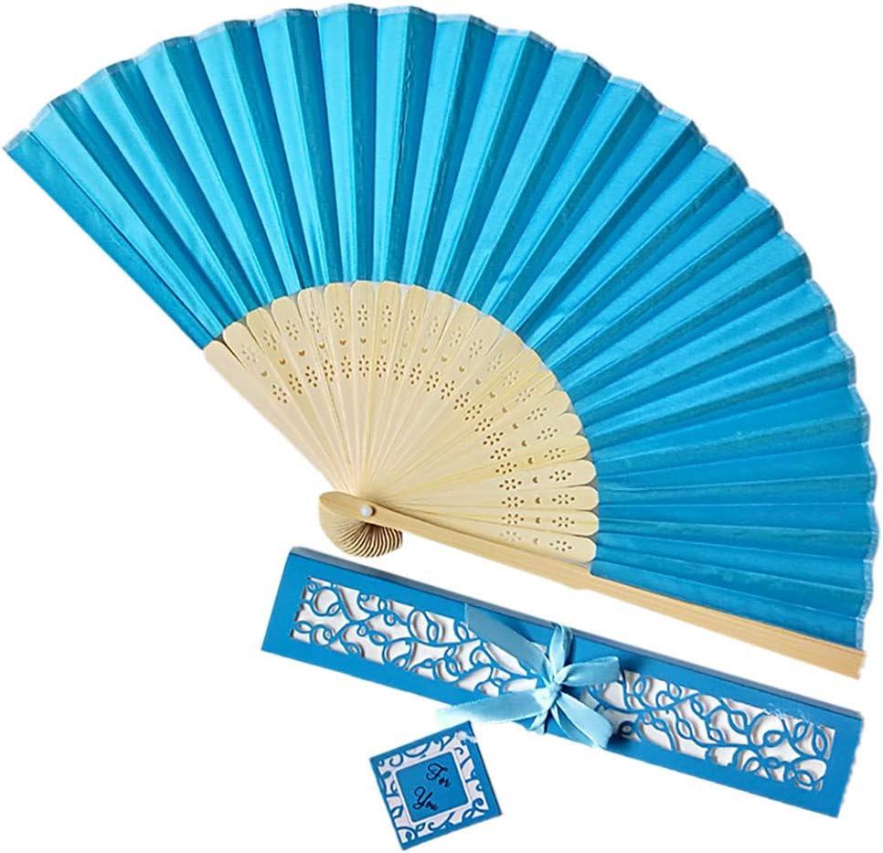 Sunkessety Folded 2021 autumn and winter new Hand Fan Bamboo Folding Handheld Box Gift Dedication Fans