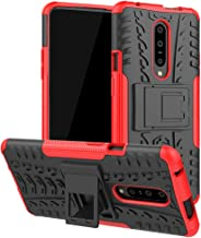 Oneplus 7 Pro Case, Yiakeng Heavy Duty Protection Rugged Bumper with Kickstand Slim Fit Accessories Phone Cases for Oneplus 7 Pro (Red)