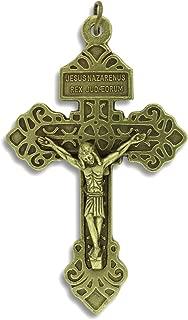 bronze rosary crucifix