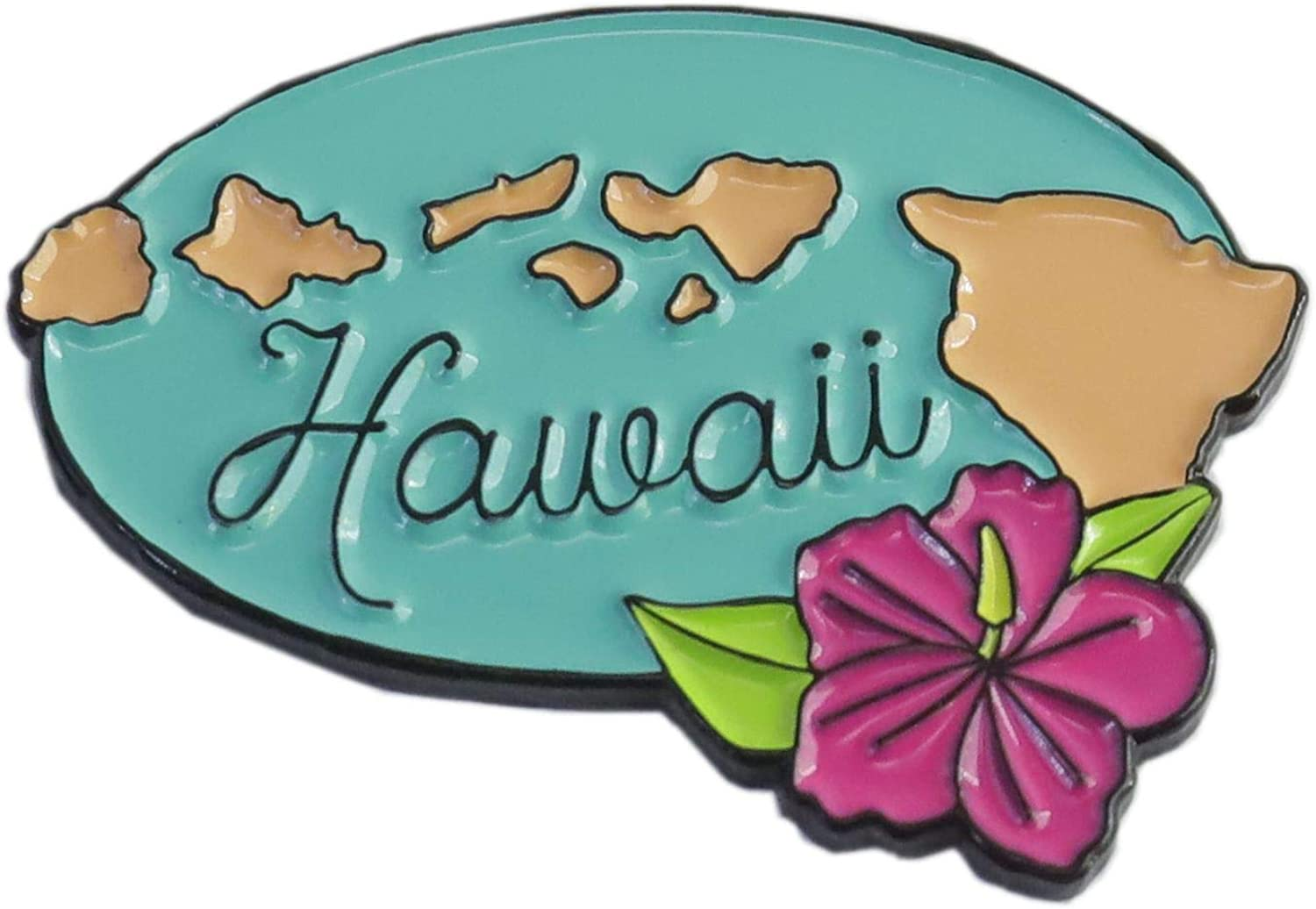 WizardPins Hawaii El Paso Mall Limited Special Price Hibiscus Edition of Shape Enamel State