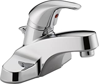Peerless Single-Handle Centerset Bathroom Faucet with Pop-Up Drain Assembly, Chrome P136LF