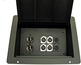 ProCraft Pro Audio Recessed Floor Pocket Box AC Duplex 6 XLR/Channels Any Configuration Made in the USA