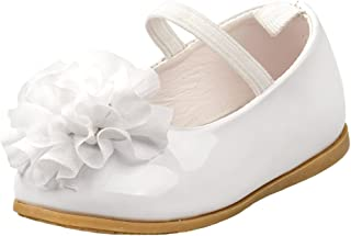 Baby Girl's Patent Dressy Shoe with Chiffon Flower (Infant, Toddler)